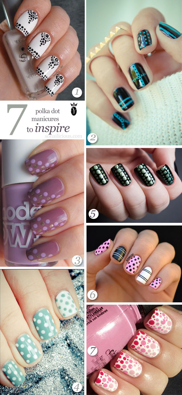 latest polka dot nail design pictures 2020