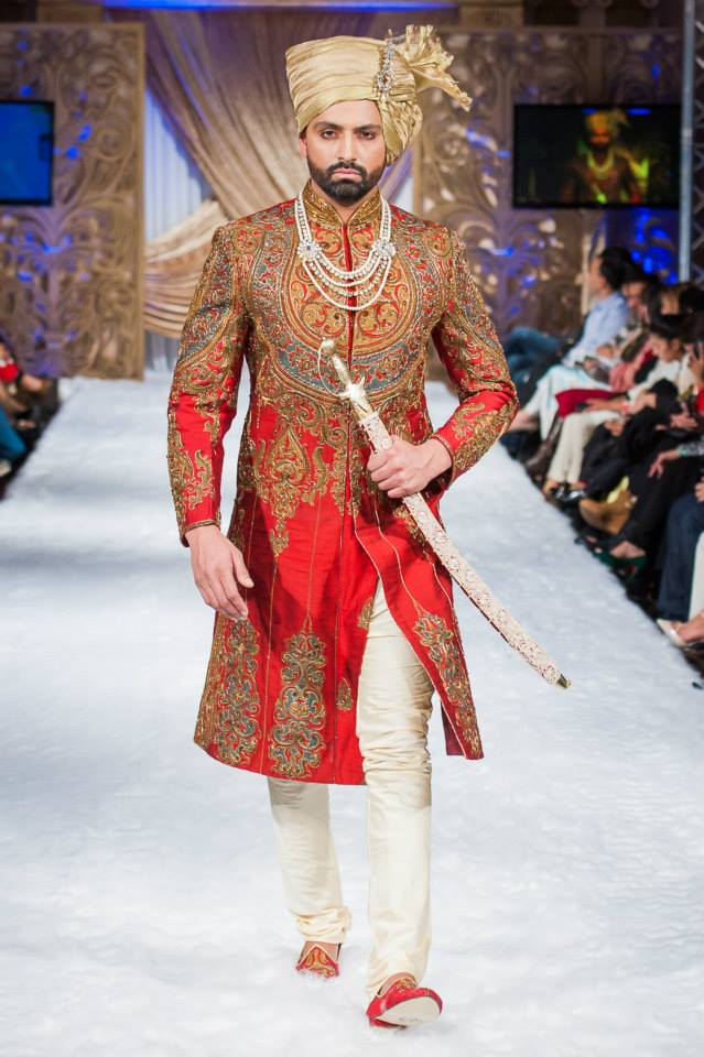 Pakistani Sherwani Designs 2017 With Embroidery