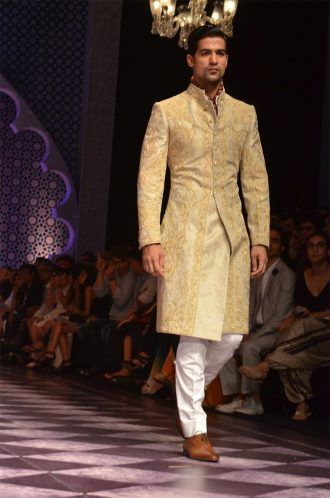 Pakistani Sherwani Designs 2017 In Off White Color