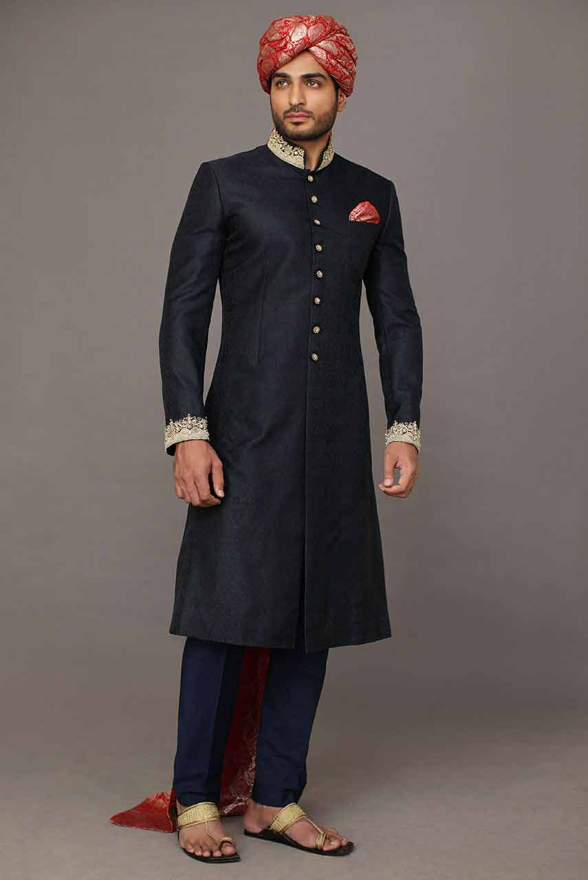 Latest Sherwani Designs 2017 For Groom In Pakistan - StyleGlow.com