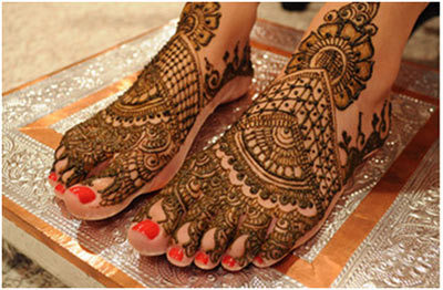 Latest Indian Mehndi Designs 2018 for feet
