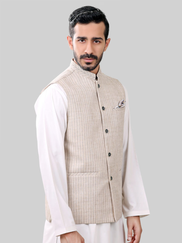Pakistani Waistcoat Designs For Boys In Recently, most famous Pakistani fashion designer brands such as Amir Adnan, Edenrobe, Deepak Perwani and Junaid Jamshed has unveiled the waistcoat collection for boys in Pakistan. All of these waistcoat designs are full of attractive colors such as red, navy blue, off white, black and so on.