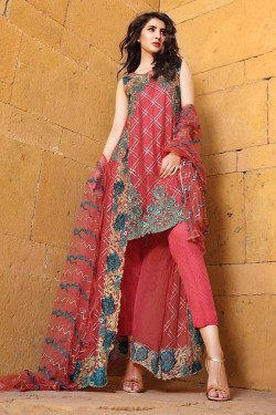 Latest Chiffon Eid Dresses 2017 With Embroidery