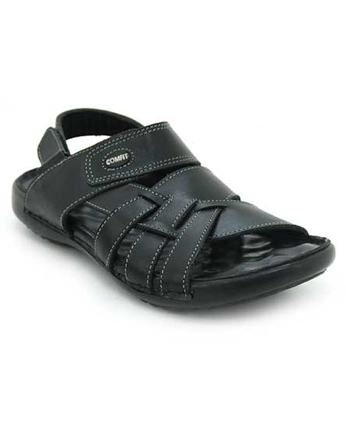 Latest Men Summer Sandals 2017 In Pakistan In Black Color