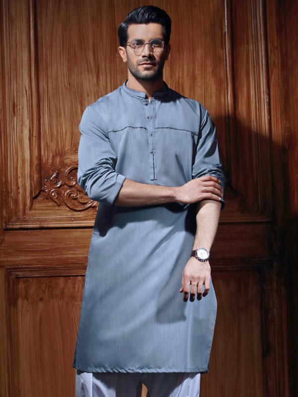 Edenrobe Gents Summer Kurta Designs 2017 In light blue Color