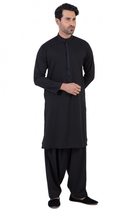 Bonanza Gents Summer Kurta Designs 2017 In Black Color