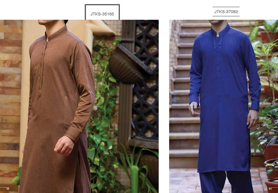 J. Gents Summer Kurta Designs 2017 In Brown Color