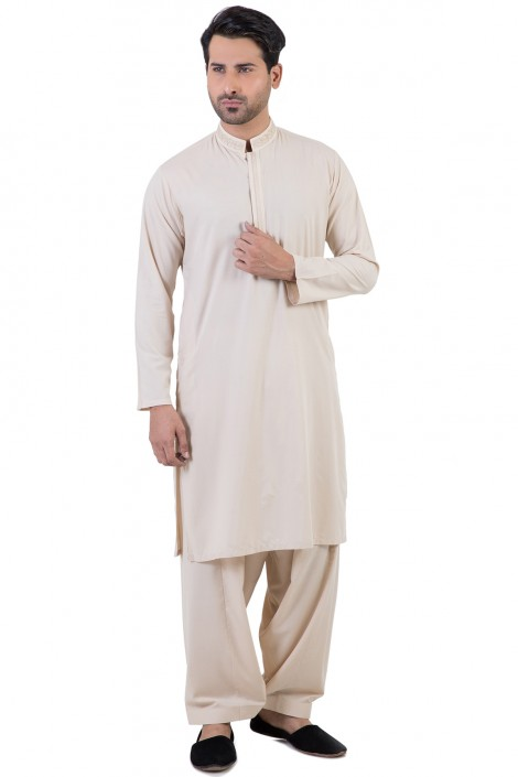 Bonanza Gents Summer Kurta Designs 2017 In Off white Color