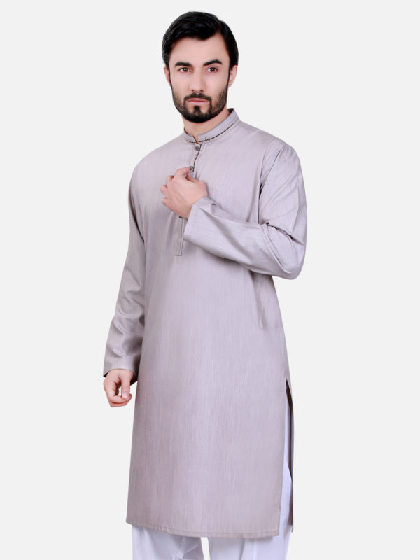 Bonanza Gents Summer Kurta Designs 2017 In light grey Color