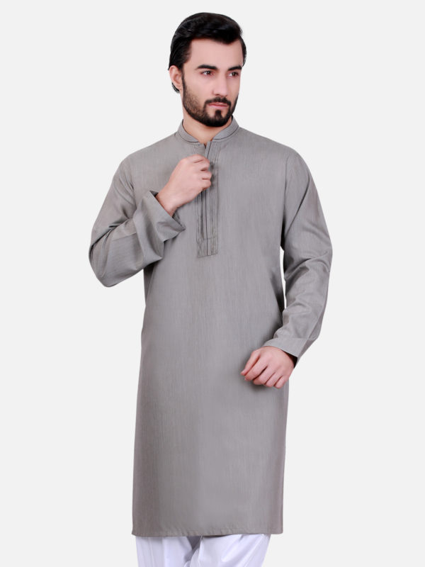 Bonanza Gents Summer Kurta Designs 2017 In Grey Color