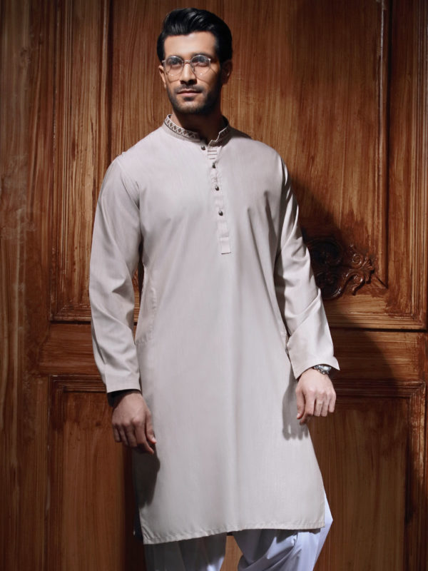 Edenrobe Gents Summer Kurta Designs 2017 In Off White Color