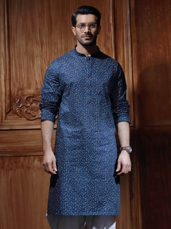 Edenrobe Gents Summer Kurta Designs 2017 printed