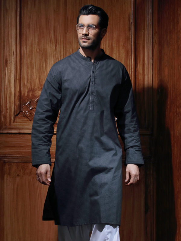 Edenrobe Gents Summer Kurta Designs 2017 In Navy Color