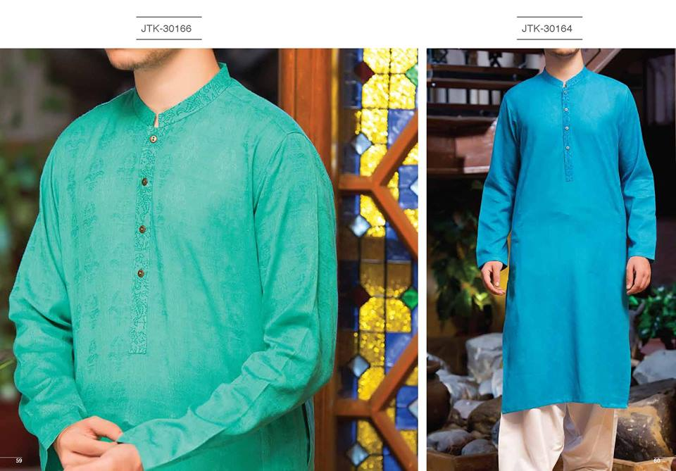 J. Gents Summer Kurta Designs 2017 In Sea Green Color