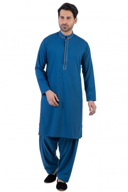 Bonanza Gents Summer Kurta Designs 2017 In royal Blue Color
