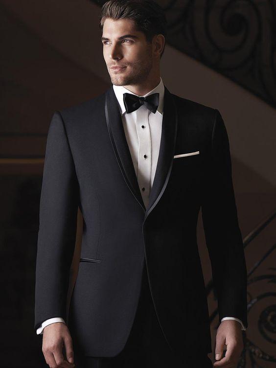 men wedding black pant coats