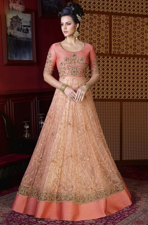 a0850e1307e Latest Pakistani Party Wear Frocks for Girls