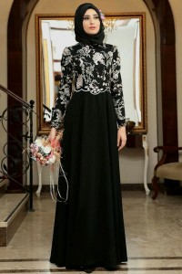 Black Embroidered Abaya Design