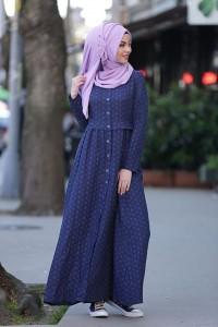 Blue Abaya Style