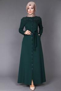 Green Dress Hijaab