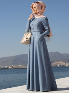 Light Blue Color Abaya