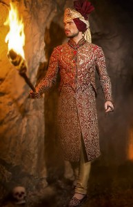 Red Sherwani for Barat