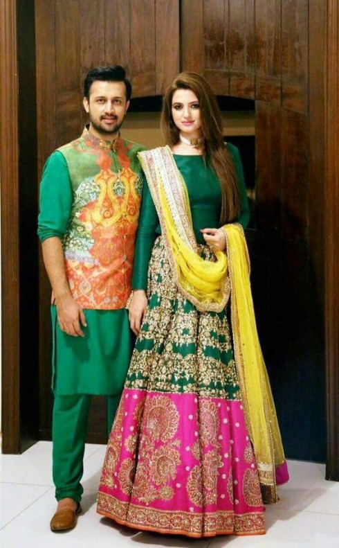 Mehndi Party What To Wear : Latest pakistani bridal wedding dresses collection