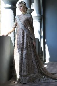 fantastic greyish wedding dress