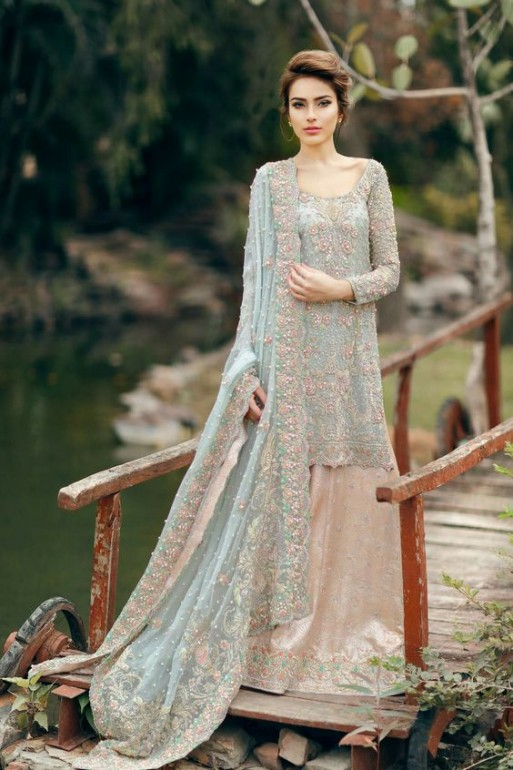 3c3611a18 Latest Bridal Walima Dresses 2019 Modern Collection - StyleGlow.com