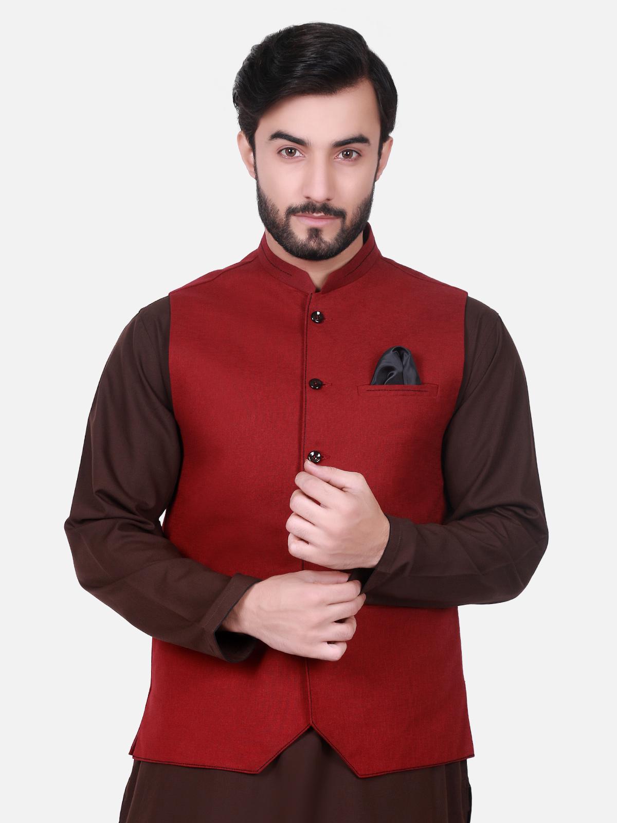 red men waistcoat