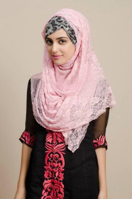 Latest Pakistani Summer Hijab Style And Designs 2019 For Girls - Styleglowcom-2305