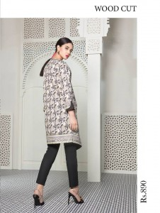 Cute Girl in Printed Shirt with Black Bottom in Sapphire Eid Collection