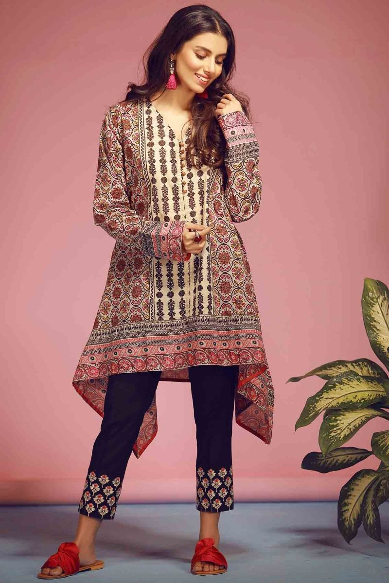 38d48f45 Latest Summer Kurti Designs 2019 Collection for Women in Pakistan ...