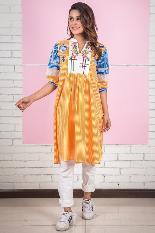 9ce9cedb78 You can likewise take in consideration these latest men kurta designs. This  time Alkaram kurti designs for young ladies is at peak of the list.