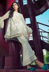 Plain White Flower Dress