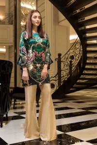 Royal Green Silk Design