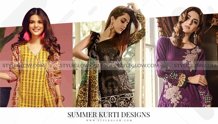 bacdedad2e Latest Summer Kurti Designs 2019 Collection for Women in Pakistan ...