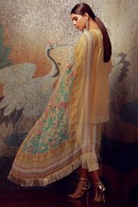 printed yellow dupata by khaadi