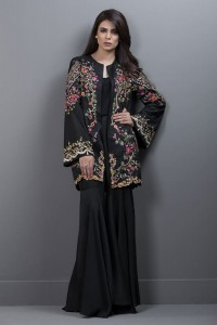 raw silk embroided jacket