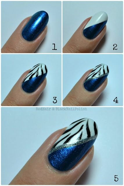 Zebra Print Nails Step By Step Tutorial 2019 How To Do Nail Art Guide Styleglow Com