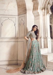 Bridal dress In Green Color