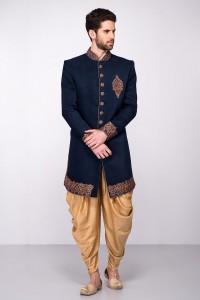 Blue Sherwani Design