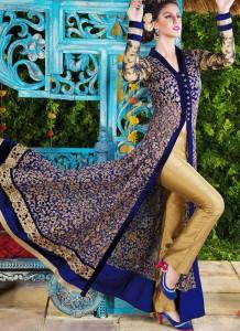 Front Open Style Anarkali dress