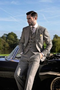 Grey Suit for Engagement