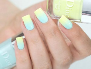 Mint Yellow Pastel Nail Color