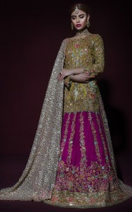 Mulberry Mehendi Bridal Dress