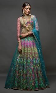 Multi Color Dress for Bride