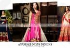 Pakistani Anarkali Dress Designs 2018