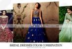 Pakistani Bridal Dresses Color Combination 2018