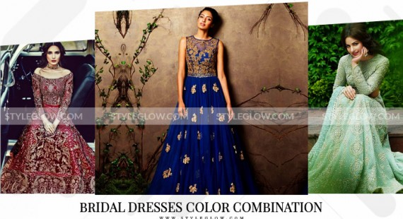 Pakistani Bridal Dresses Color Combination 2018